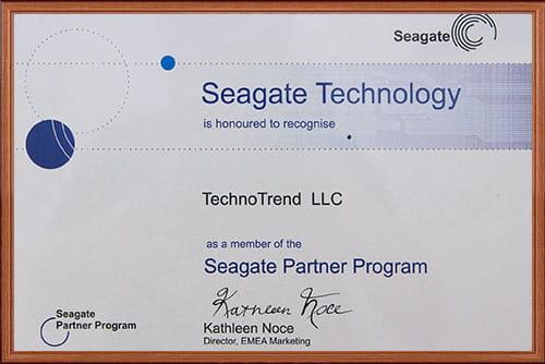 сертификаты Seagate